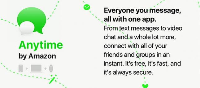 Amazon podría lanzar 'Anytime': su propia aplicación de mensajería instantánea